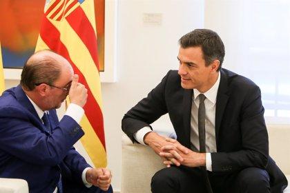 """Lambán dice a Sánchez que es """"meritorio"""" su """"esfuerzo"""" con Cataluña, pero que no tiene solución a corto plazo"""