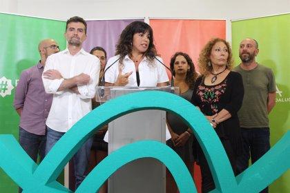 """Teresa Rodríguez: El adelanto electoral es """"muestra de debilidad"""" y llega en el """"mejor momento"""" para Adelante Andalucía"""