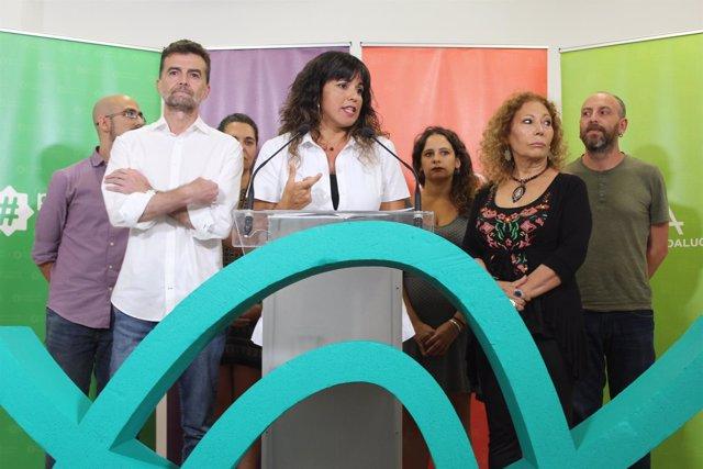 Teresa Rodríguez y Antonio Maíllo valoran el adelanto electoral