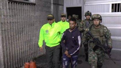 Policía de Colombia detiene a alias 'Garbanzo', disidente de las FARC