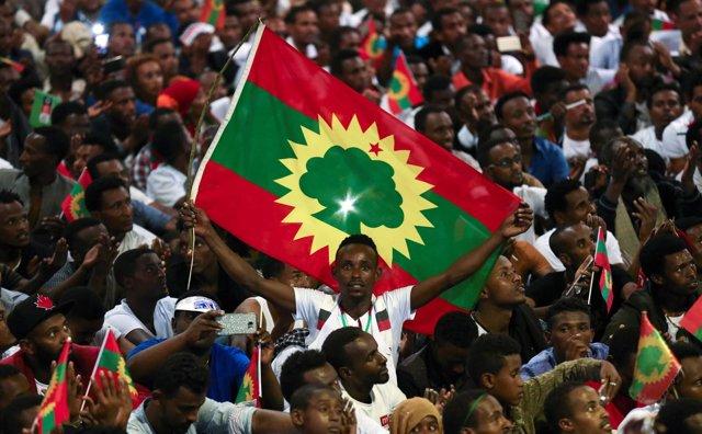 Bandera del Frente de Liberación Oromo