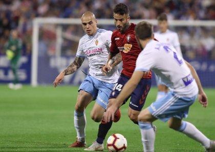 Zaragoza y Osasuna igualan en La Romareda y el Rayo Majadahonda sorprende al Sporting