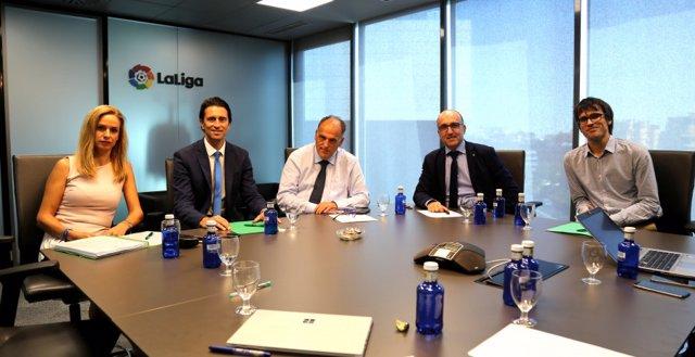 Reunión de la Comisión Negociadora del Convenio Colectivo en la sede de LaLiga.