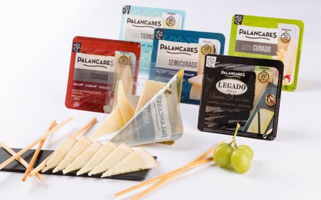 Imagen de la nueva gama de cuñas de queso cortadas de Palancares Alimentación