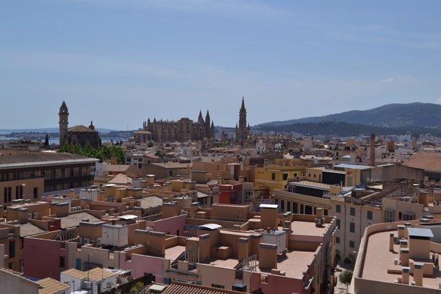 Palma, catedral, pisos, casas, centro, ciudad, recurso