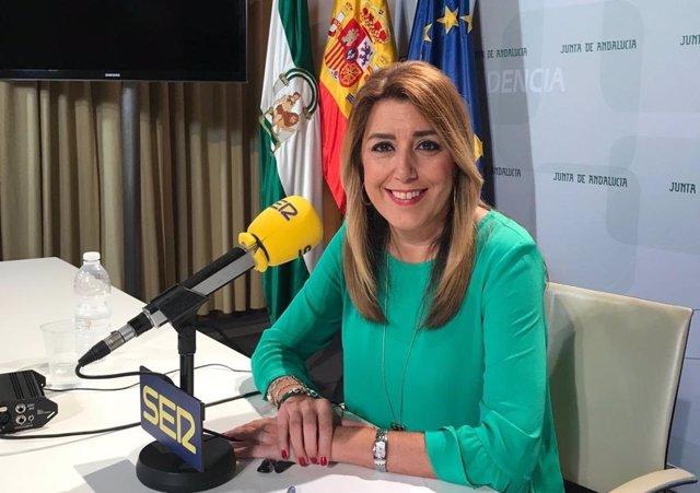 Susana Díaz entrevistada en la cadena Ser