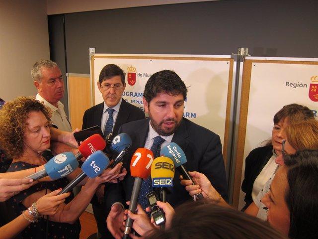 El presidente del Gobierno murciano, Fernando López Miras