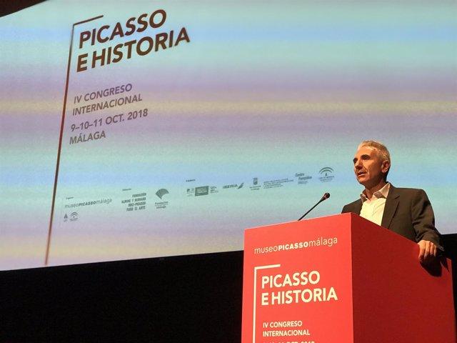 Miguel Ángel Vázquez consejero andaluz de cultura congreso picasso