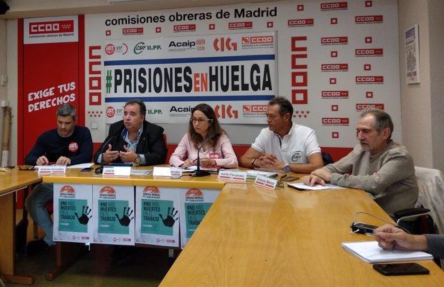 Rueda de prensa de sindicatos de prisiones