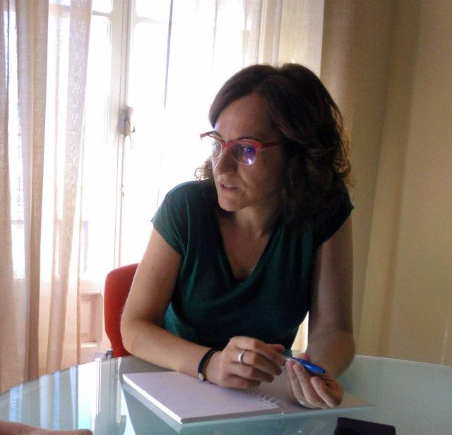La secretaria general de CCOO-A, Nuria López, en la entrevista con Europa Press.