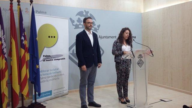 Angelica Pastor y Jose Hila, regidores de Seguridad Ciudadana y Urbanismo