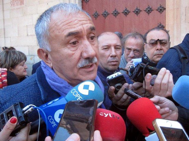 Pepe Álvarez Atiende A Los Medios En Salamanca 9-10-2018