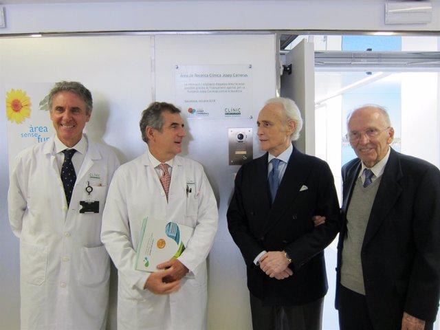 Álvaro Urbano-Ispizua, Josep Maria Campistol, Josep Carreras y Ciril Rozman