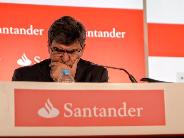 El consejero delegado de Banco Santander, José Antonio Álvarez