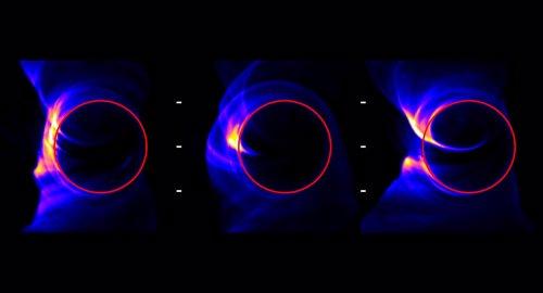 Simulaciones de la sombra del horizonte de sucesos de  un agujero negro