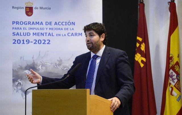 El presidente del Partido Popular regional, Fernando López Miras