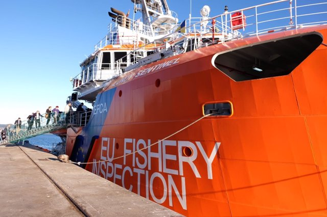 El patrullero Lundy Sentinel, de la Agencia Europea de Control de la Pesca