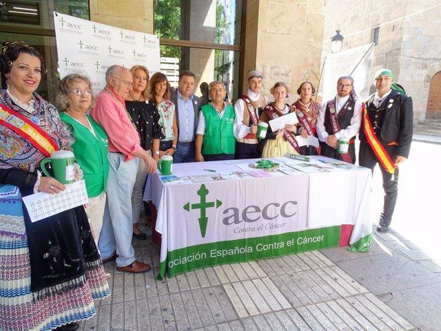 Cuestación AECC en la feria de Albcete