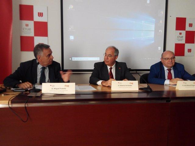 Miquel Francés, Roberto Fernández y José Manuel Pingarrón
