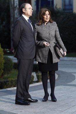 Pío García Escudero y Susana Díaz en la Conferencia de Presidentes en el Senado