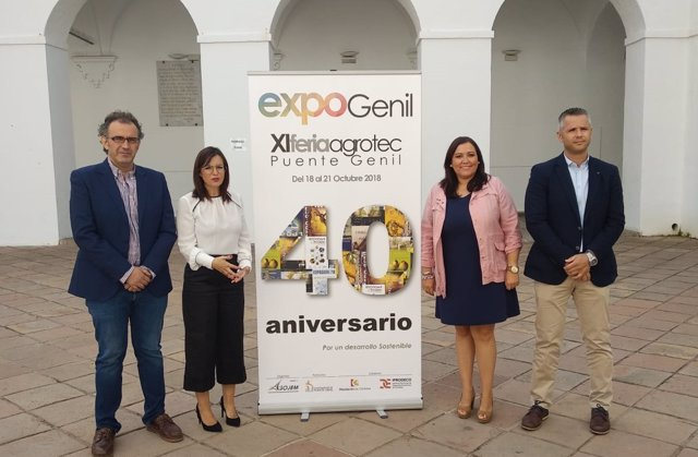 Carrillo (dcha.), en la presentación de ExpoGenil