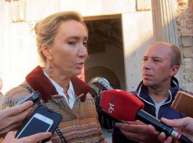 María Victoria Seco en Salamanca, 9-10-18