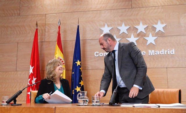 Rueda de prensa posterior al Consejo de Gobierno de la Comunidad de Madrid