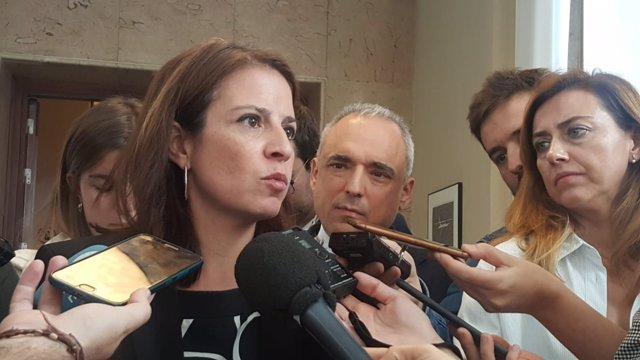 Adriana Lastra, portavoz del Grupo Socialista en el Congreso