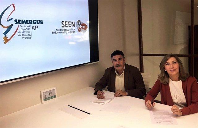 Firma del acuerdo de colaboración entre SEEN y SEMERGEN