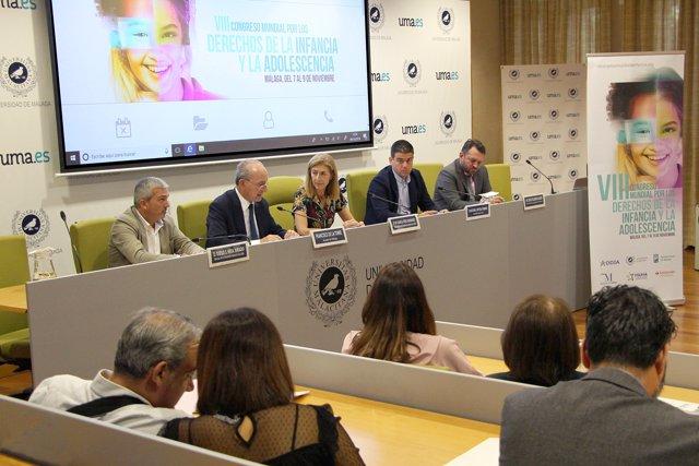 Presentación Congreso Infancia. Ayuntamiento, Diputación y UMA