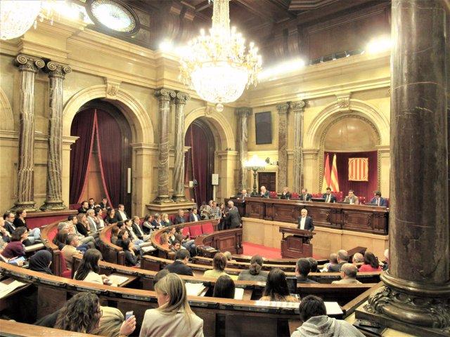Carlos Carrizosa (Cs) en el pleno del Parlament