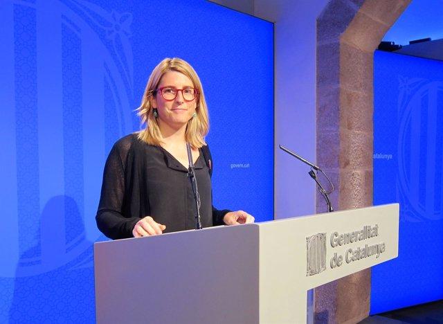 Elsa Artadi, consellera y portavoz de la Generalitat