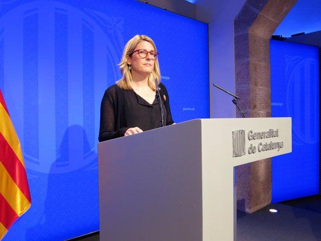 Elsa Artadi, consellera i portaveu de la Generalitat