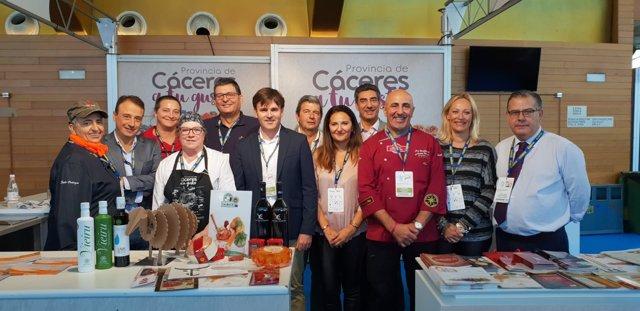 Los productos cacereños en la Gastronómika de San Sebastián