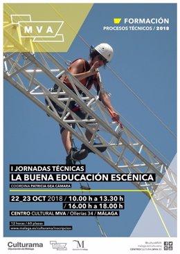 Cartel Jornadas la buena educacion escenica organizada por Diputación