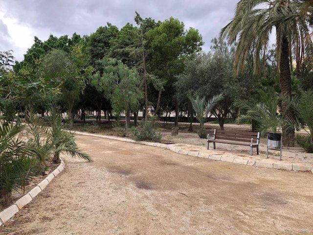 Imagen del Parque 'Luis Siret' de Cuevas, que sufrirá un lavado de cara.