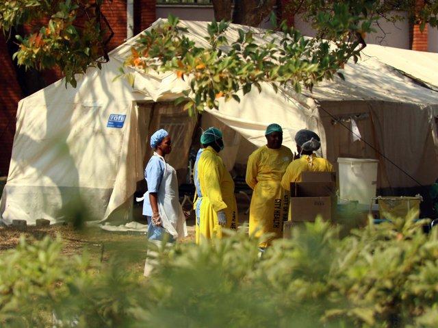 Centro contra el cólera en Harare