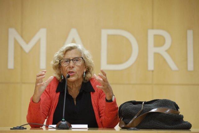 La alcaldesa de Madrid ofrece rueda de prensa sobre su candidatura a las eleccio