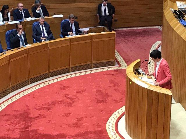 Ana Pontón, portavoz del BNG en el Parlamento