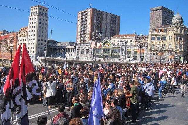 Manfiestación Centros Concenrtados Bilbao.