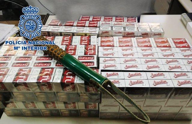 Tabaco de contrabando intervenido por la Policía
