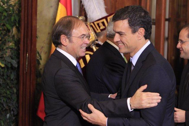 Pío García Escudero y Pedro Sánchez Castejón