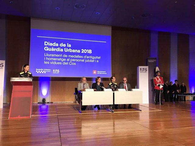 Amadeu Recasens, Ada Colau, Evelio Vázquez y Jordi Samsó