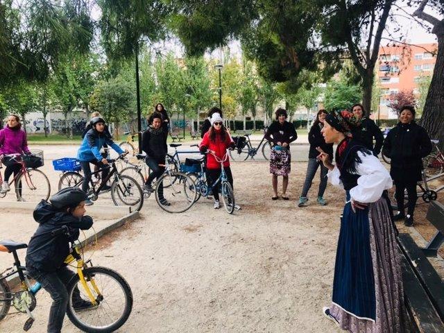 Rutas culturales en bici 'Zaragoza con nombre de mujer'