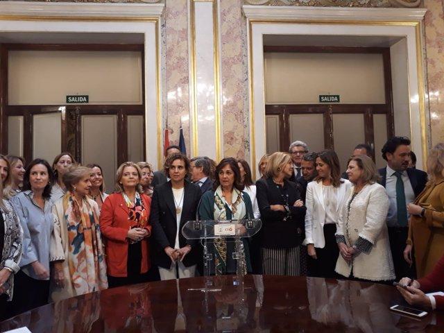 Dolors Montserrat y Beatriz Escudero, en el Congreso