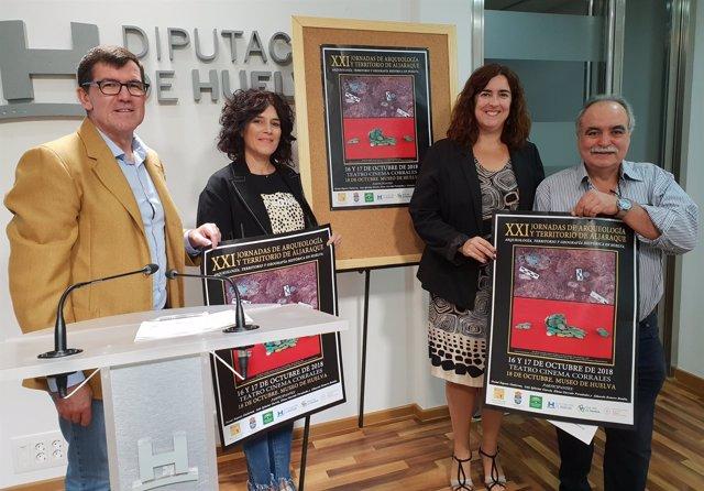 Presentación de las XXI jornadas de arqueología de Aljaraque.