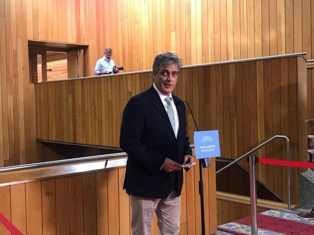 Pedro Puy, portavoz parlamentario del PPdeG, en el debate de política general