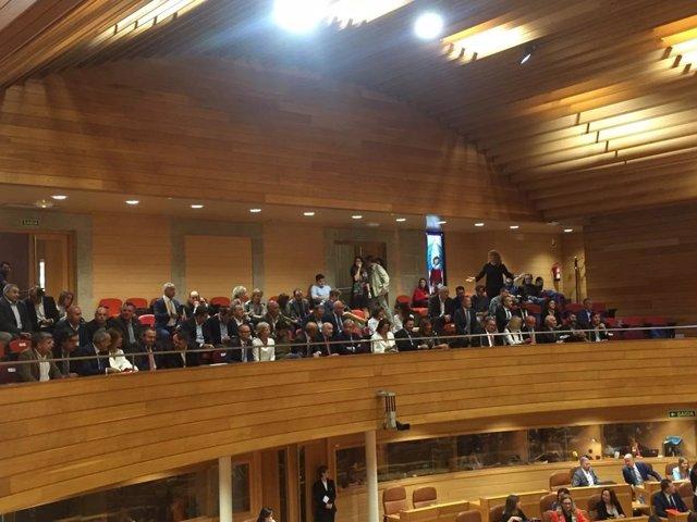 Tribuna de invitados del Parlamento de Galicia