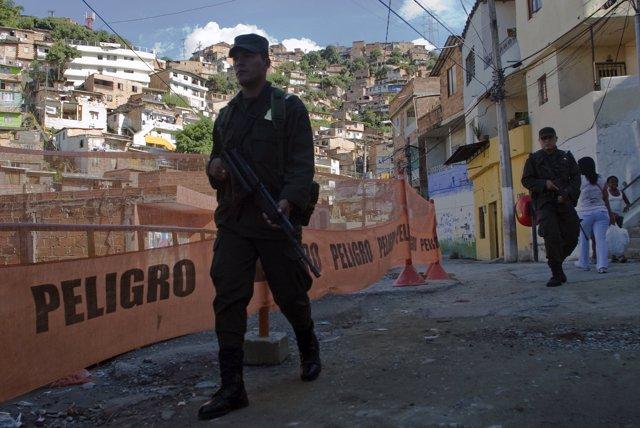 Policía en Medellín