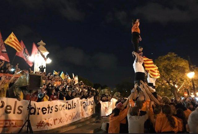 Manifestación de la Comissión 9 d'Octubre